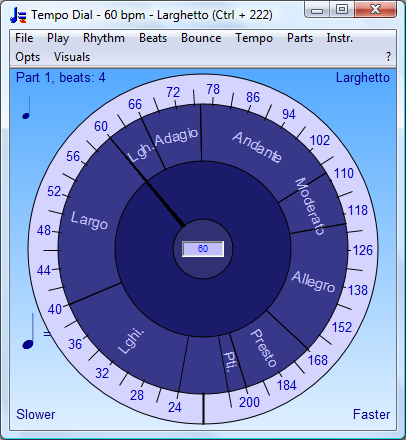 Tempo Dial with Unlimited Range | Bounce Metronome Pro for